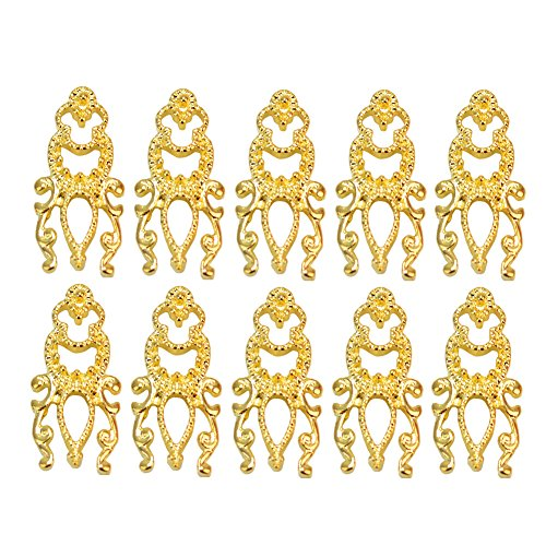 ReFaxi®10 Pcs 3D Charm Alloy Gold Tone Anchor Design Nail Art Tips Manicure Decoration (Style3) - Gold 3d Anchor Charm