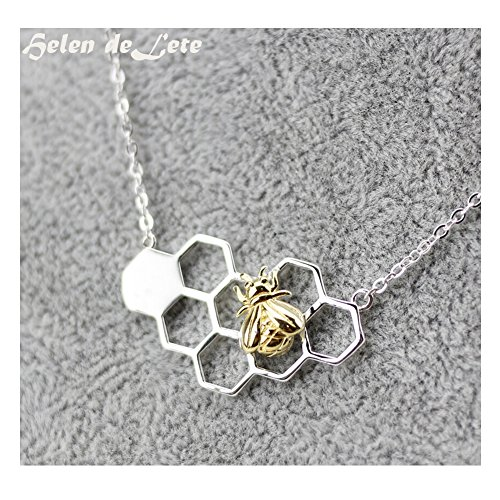 Bees Sterling Necklace