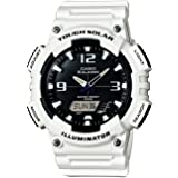 Casio Men's Tough (Solar Powered) Stainless Steel Quartz Watch with Resin Strap, White, 20 (Model: EAW-AQ-S810WC-7AV)