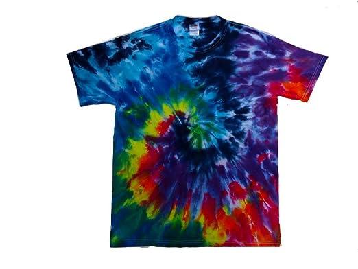 4972842237149b Dubie Tie Dye and Hemp Rainbow Spiral Tie Dye Shirt (Small