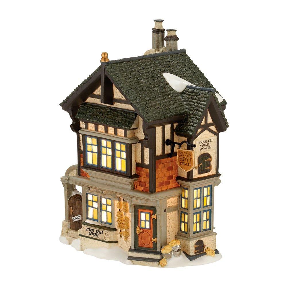 Department 56 Dickens' Village Evan Hoyt Sponge Dealer Lit House, 7 inch 4025256