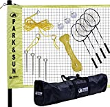 Sports Outdoors Best Deals - Park & Sun Sports Portable Indoor/Outdoor Badminton Net System with Carrying Bag and Accessories: Professional Series