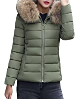 Misaky Womens Puffer Down Coat Jackets With Faux Fur Hoodie Women Gift Ideas