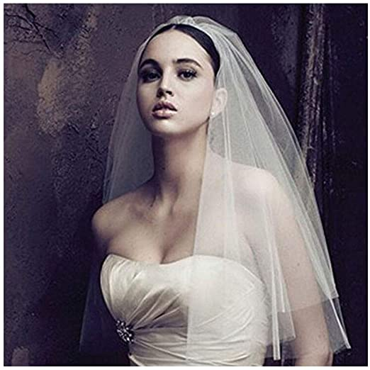 Amazon Canb Bridal Wedding Veils Chapel Length Tulle Veil With