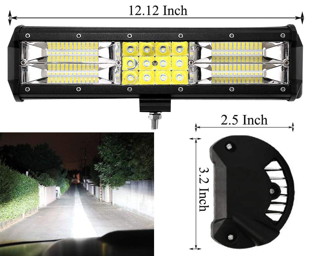 72W Leetop 72W 36W 120W 180W LED Light Bar LED Barra Faro Camion Auto Esterni Fari Impermeabile IP67 Lampada Luce di Lavoro per off-Road Camion Luce Retromarcia LED