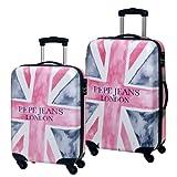 Pepe Jeans - Juego de maletas 55/68cm Multicolor (Rosa) 1940901