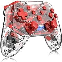 Controlador de jogo com punho de polegar para gamepads sem fio Bluetooth transparentes joystick de console remoto para…