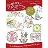 AUNT MARTHA's Stitcher's Revolution Folksy Farm Iron-On Transfer Pattern for Embroidery