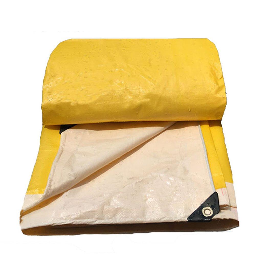 AJZXHE Regenfeste Sonnenschutzplane, LKW-Schutzplane im Freien Schatten staubdicht Winddicht Hochtemperatur Anti-Aging, gelb -Plane