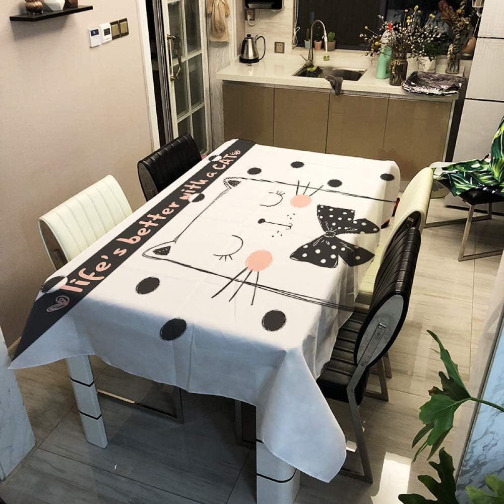 Mantel de poliéster de la serie Cat de dibujos animados Mantel de mesa rectangular de poliéster para el hogar ZB2035-14 140x160cm Adecuado para cocina, comedor, patio, cafetería, fiesta o picnic: Amazon.es: Hogar