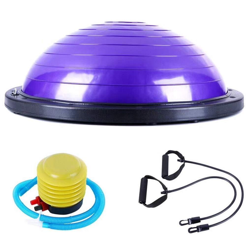 【テレビで話題】 ストラップ、弾性抵抗バンド B07R3R2SBV&スライドディスク付きの新しいハーフバランスボール| Jewelry-stores.co.ukスリップ防止、耐久性&ポータブル|コアトレーニング Purple、ヨガ、ピラティス B07R3R2SBV Purple Purple, nabika:99660e01 --- arianechie.dominiotemporario.com