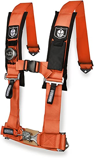 "Pro Armor 2/"" 4pt Harness Seat Belt w//Sewn Pads Blue Polaris Can-Am Kawasaki All"