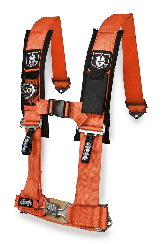 Pro Armor Orange 4-Point Harness with 2 Pads A114220OR
