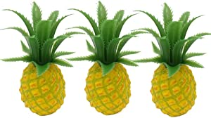 HORUIUS Fake Pineapple Artificial Fruit Mini Small Pineapple Simulation Lifelike for Home Cabinet Table Party Kitchen Decoration Photography Prop 3 Pcs
