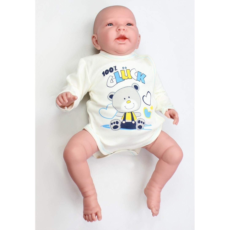 TupTam Unisex Baby Wickelbody Langarm mit Aufdruck 5er Set