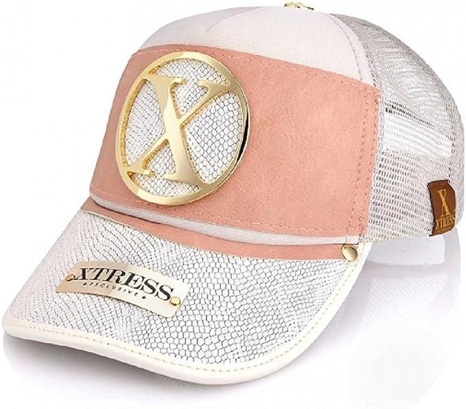 Gorra de diseño blanca y rosa para hombre y mujer.: Amazon.es ...