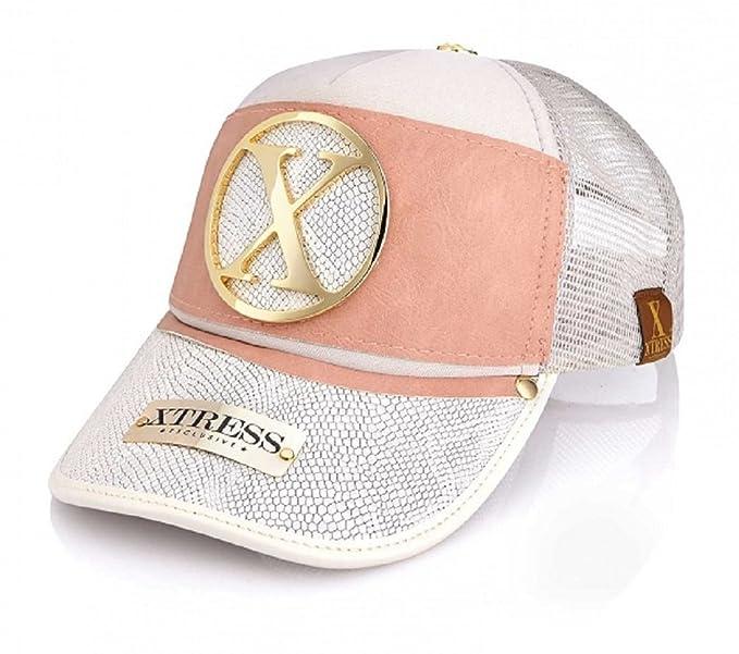 Xtress Exclusive Gorra de diseño blanca y rosa para hombre y mujer.  Amazon. es  Ropa y accesorios 7542a775d54