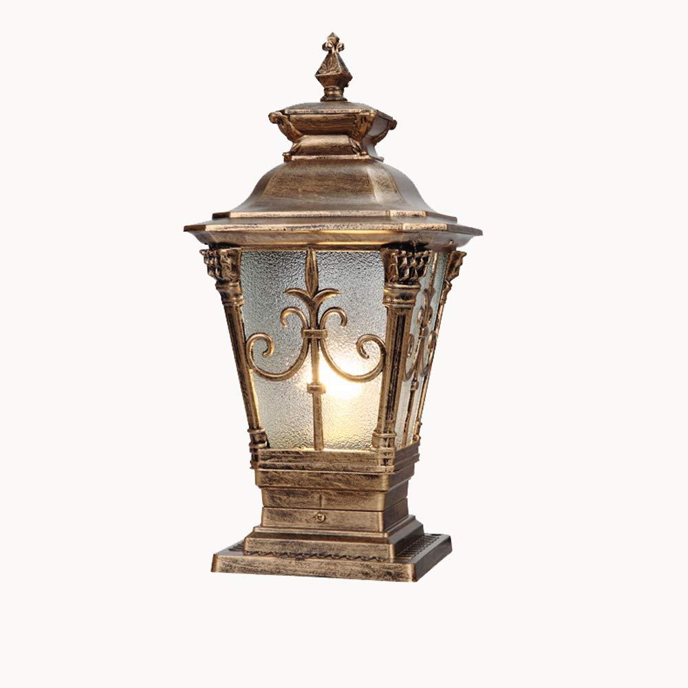 IBalody Vintage europeo E27 impermeabile all'aperto lampade pilastro retro industriale in alluminio di alluminio post lampioni porta giardino strada parco casa villa illuminazione luci a colonna