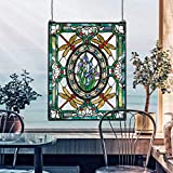 Design Toscano Dragonfly Floral Stained Glass