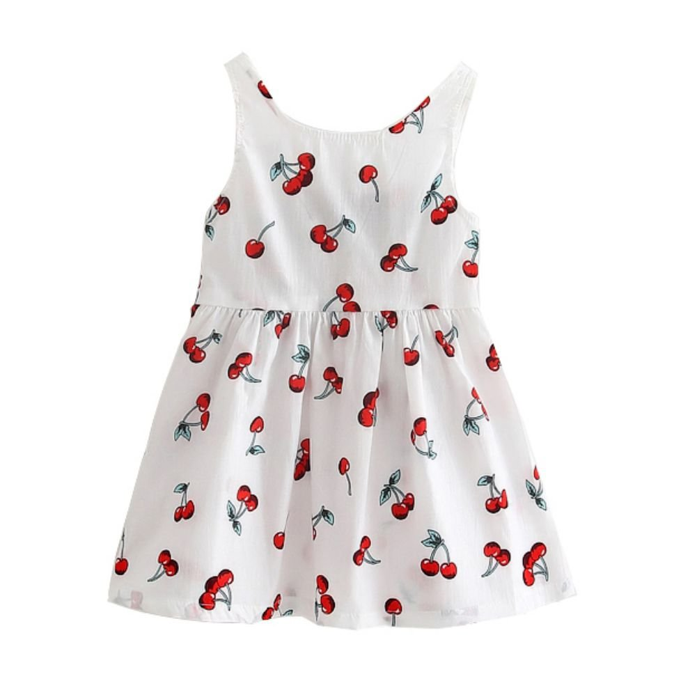 Zhengpin Summer Baby Girl Sleeveless Casual Dress Cotton Vest Dress Kids Mini Dress