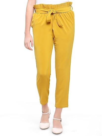 64d8e59b6 Smarty Pants Women Poly Cotton Ankle Length Pants (Mustard): Amazon ...