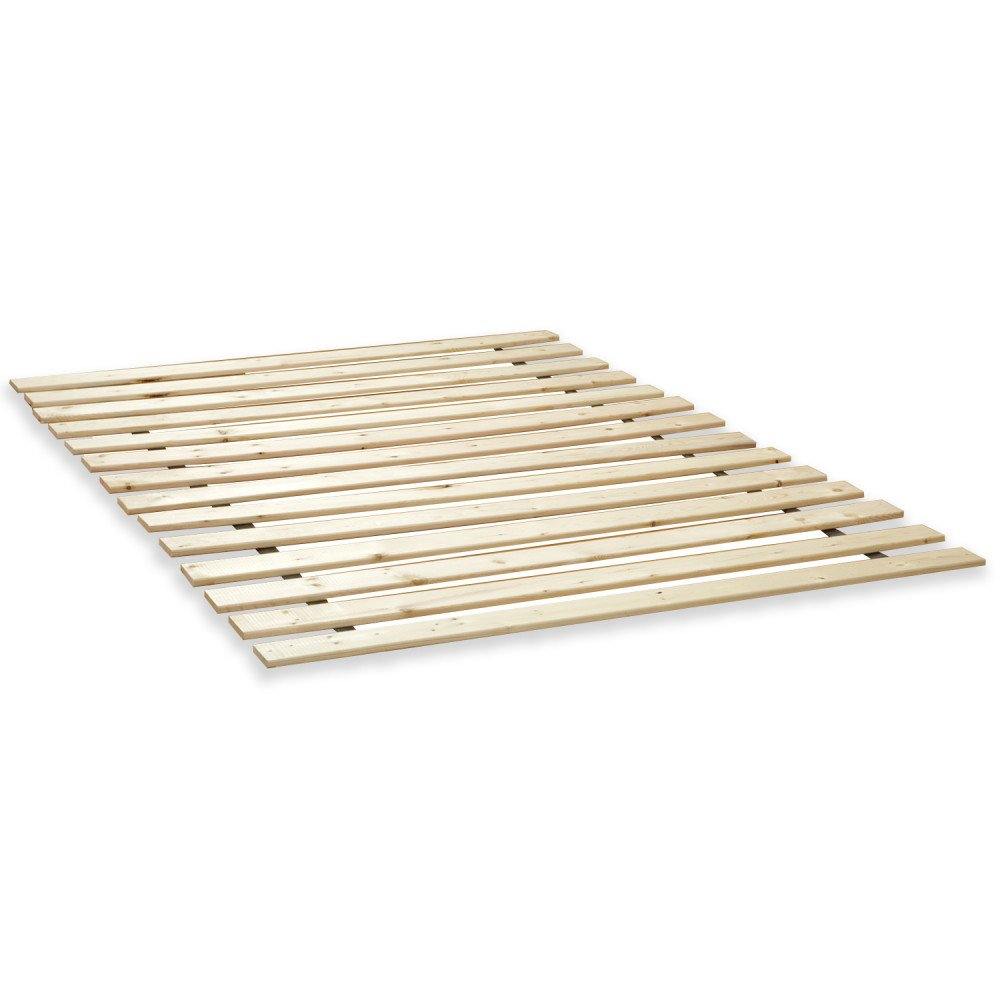 Classic Brands Heavy Duty Attached Solid Wood Bed Support Slats 39 W-Twin XL White