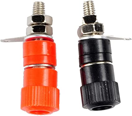 20pcs high quality Red Copper Speaker Cable Spade Connector Terminal Plug