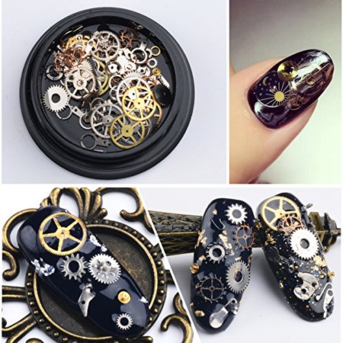 1 Pack 3D Steampunk Gear Alloy Nail Art Rhinestones Wheel Industrial Machinery Components Parts Rock Style Metal Decoration DIY Manicure Nails Tools Tips Kits Elegant Popular Xmas Holidays Tool Kit for $<!--$19.47-->