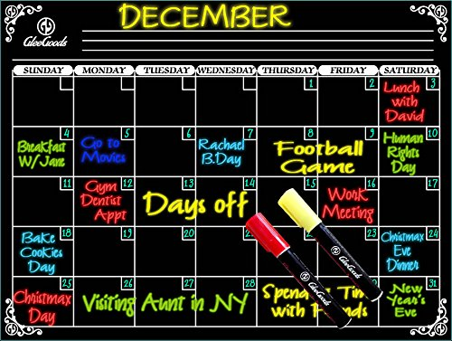 Magnetic Monthly Calendar Magnet Refrigerator