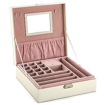 Amazon.com: Goldwheat - Caja organizadora de joyas con ...