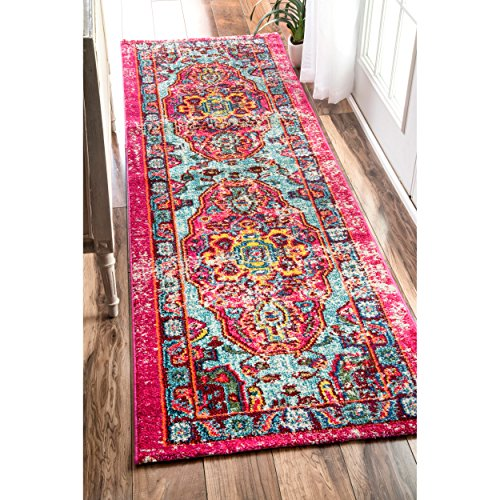 Oriental Vintage Distressed Abstract Multi Runner Area Rugs, 2 Feet 6 Inches By 8 Feet (2' 6