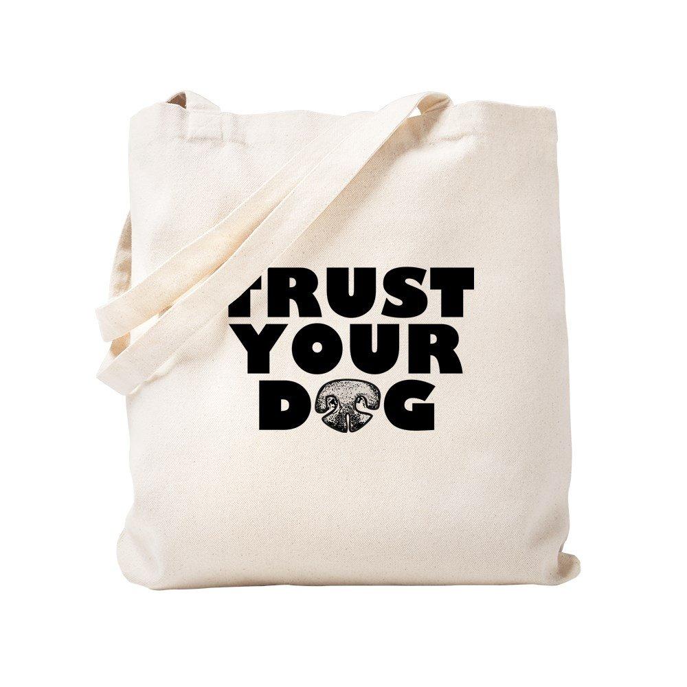 791c20378af Amazon.com: CafePress Trust Your Dog Natural Canvas Tote Bag, Cloth ...
