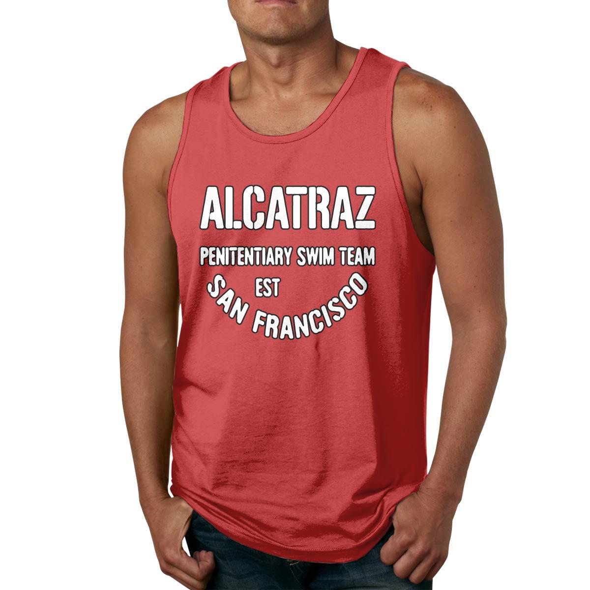 79155df75249d5 Amazon.com  Alcatraz Penitentiary Swim Team San Francisco Men s Casual Tank  Top Gym Sleeveless Vest Shirt  Clothing