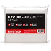 Mattress Bag : Heavy Duty 4 mil Thick Mattress Bag for Moving / Storage, Made in the USA