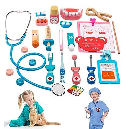 Amazon.com: Kit de juguetes de madera para niños, 24 piezas ...