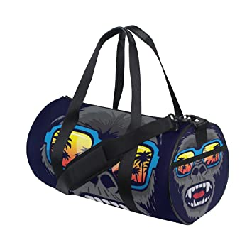 UIYTR Gym Bag for Women Workout Purse with Yoga Mat Holder Straps Roomy Tote Bag For Fitness Essentials Purple