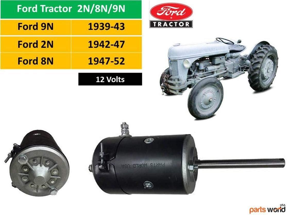 New 12v Starter for Ford 8N tractor Ford 9N Ford 2N with BENDIX DRIVE 1-yr WARRANTY Ford 8n Starter 12 volt 8N-11001 8N-11001R 8N-11002 9N-11001 9N-11002