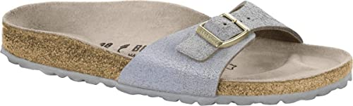 e021b226056a Birkenstock Madrid VL Womens Sandals Washed Metallic Blue Silver UK4.5 EU37  US6 6.5
