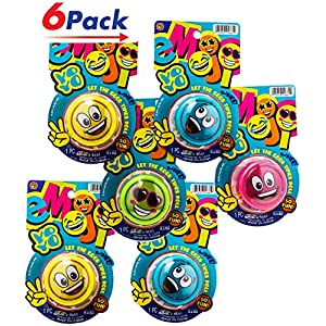 Emoji YoYo by 2GoodShop |Kids Toys Smiley Face Yo-yo for Kids Perfect Party Favors Pack of 6 | Item #4661