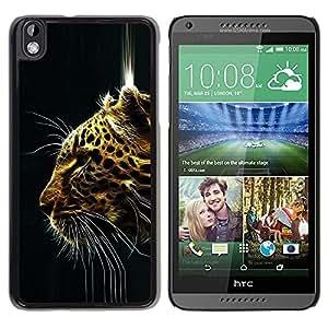 Be Good Phone Accessory // Dura Cáscara cubierta Protectora Caso Carcasa Funda de Protección para HTC DESIRE 816 // Cheetah Big Cat