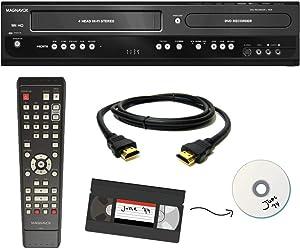 Magnavox VHS to DVD Recorder VCR Combo w/ Remote, HDMI