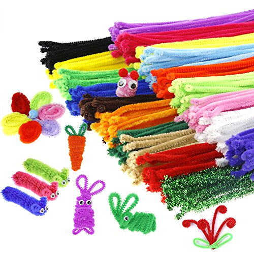Caydo 342 Pcs Pipe Cleaners Chenille Stem, Assorted Colors
