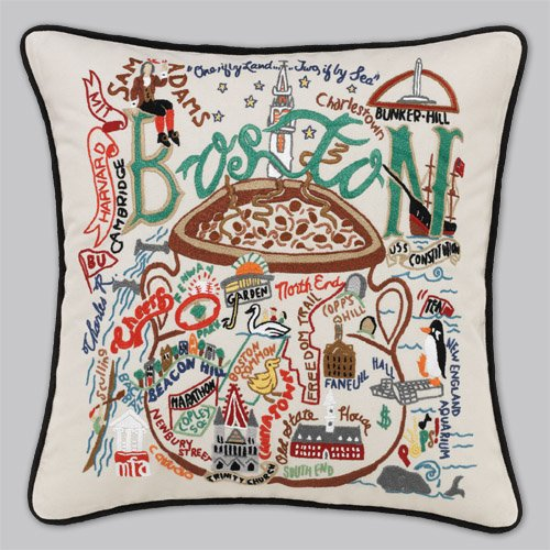 Catstudio Boston Pillow by Catstudio Embroidered Pillow