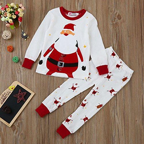 af46685a27eca Kangrunmy Costume De NoëL pour Enfants 2-7 Ans 2Pcs Hiver Automne BéBé  Garcons Filles