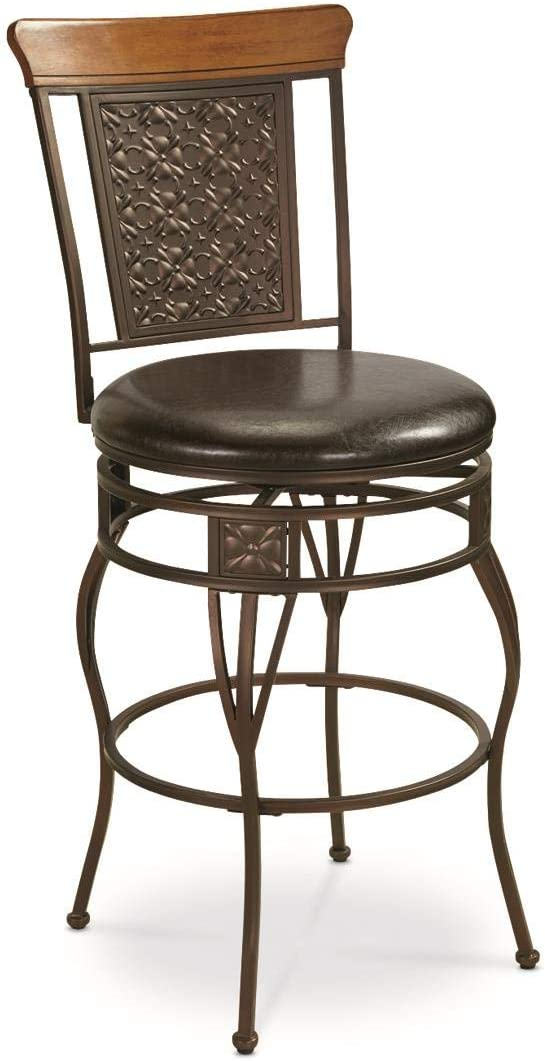 CASTLECREEK Oversized Pressed Metal Bar Counter Stool