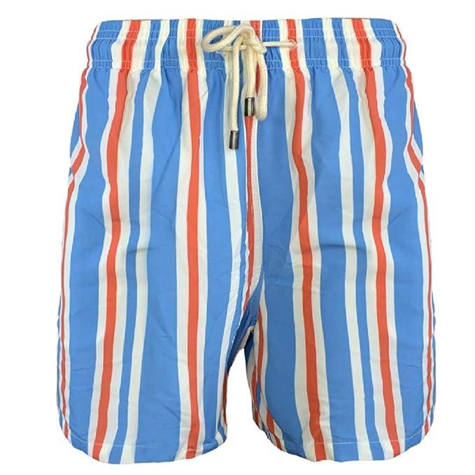 a0f485a2e6 Solid & Striped Men's The Classic Swim Trunks, Blue Cream Orange ...
