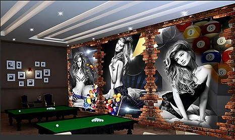 XCMB Papel pintado Personalizado Fondo De Pantalla De Billar 3D Imagen Billar Fondo Pared Billar Sala Tenis De Mesa Wallpaper Wallpaper-250Cmx175Cm: Amazon.es: Bricolaje y herramientas