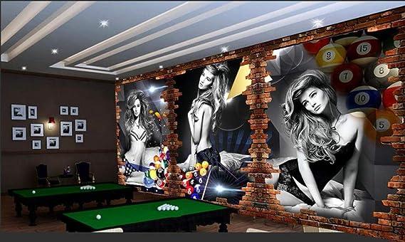 XCMB Papel pintado Personalizado Fondo De Pantalla De Billar 3D Imagen Billar Fondo Pared Billar Sala Tenis De Mesa Wallpaper Wallpaper-400Cmx280Cm: Amazon.es: Bricolaje y herramientas