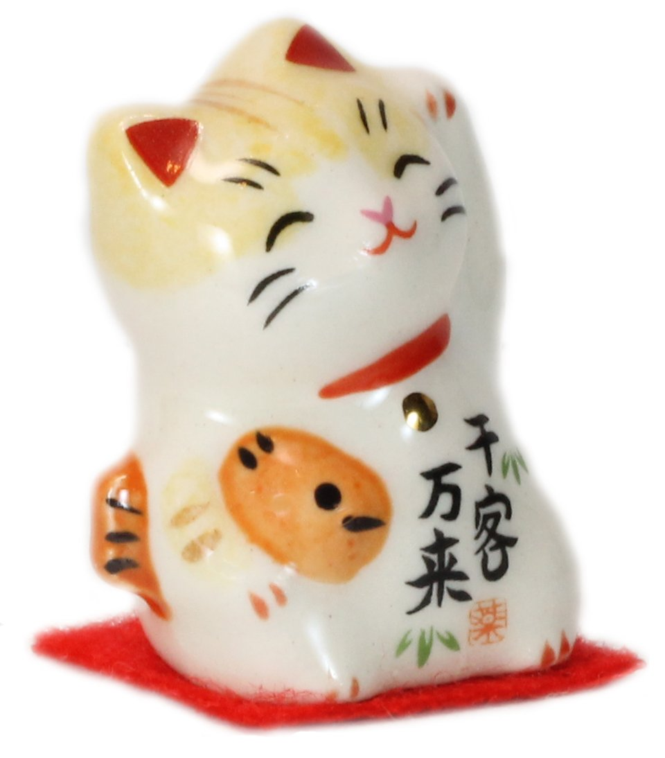 Lucky Cat Model 7145 I wish roaring my business well -Light Yellow- 7145LY