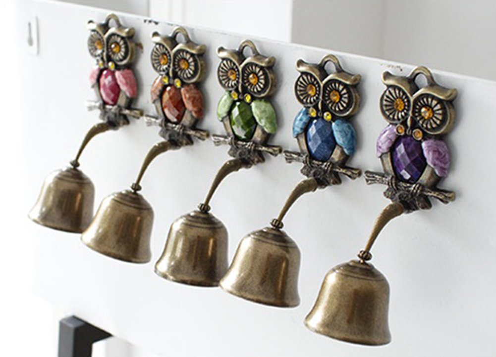 Owl Springy Shopkeepers Bell Entrance Alert Chime Compact & Lightweight Unique Design Home Decoration Doorbell A-Type (Orange) by YG-1 (Image #7)